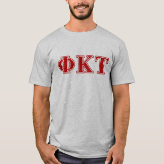 Phi-Kappatau-Rot-Buchstaben T-Shirt