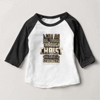 Phil4: 13 kann ich alle Sachen durch Christus tun Baby T-shirt
