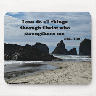 Phil. 4:13 I kann alle Sachen durch Christus tun… Mousepad