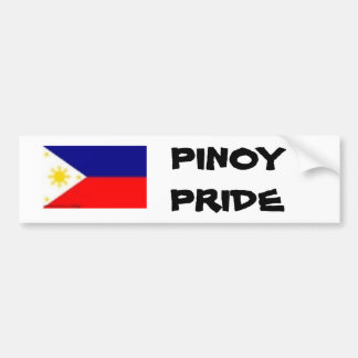 Phil-Flagge, PINOY STOLZ Autoaufkleber