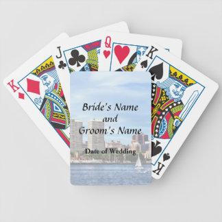 Philadelphia-PA-Skyline-Hochzeits-Versorgungen Bicycle Spielkarten