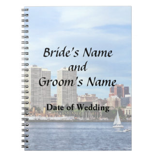 Philadelphia-PA-Skyline-Hochzeits-Versorgungen Notizblock
