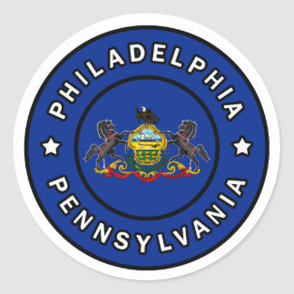 Philadelphia Pennsylvania Runder Aufkleber
