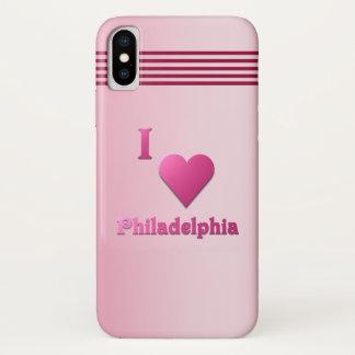Philadelphia -- Pink iPhone X Hülle