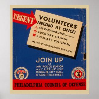 Philadelphia-Rat der Verteidigung verbinden jetzt Poster