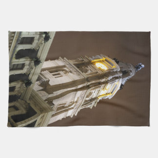 Philadelphia-Rathaus-Glockenturm nachts Handtuch