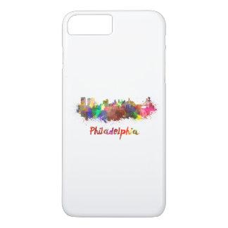 Philadelphia skyline im Watercolor iPhone 8 Plus/7 Plus Hülle