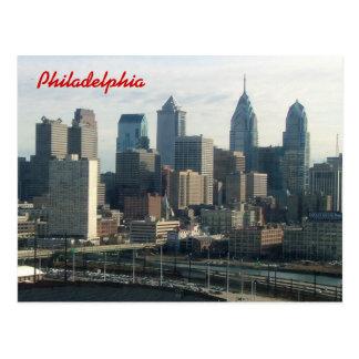 Philadelphia-Skyline Postkarte
