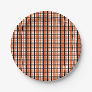 Philadelphia-Sport-Fan-orange Schwarz-weißes Pappteller