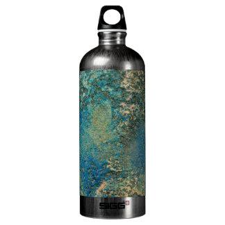 Philip-Bogenschütze-Ozean-Blau-und Goldabstrakte Aluminiumwasserflaschen