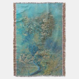 Philip-Bogenschütze-Ozean-Blau-und Goldabstrakte Decke