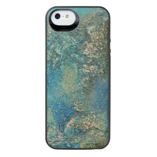 Philip-Bogenschütze-Ozean-Blau-und Goldabstrakte iPhone SE/5/5s Batterie Hülle