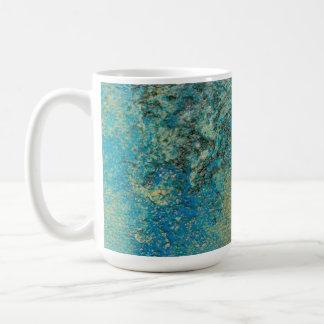 Philip-Bogenschütze-Ozean-Blau-und Goldabstrakte Tasse