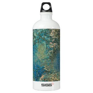 Philip-Bogenschütze-Ozean-Blau-und Goldabstrakte Wasserflaschen