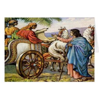 Philip und der Mann in einer Chariot Grußkarte
