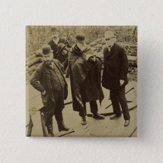 Philip Webb (1831-1915) während des Baus von Quadratischer Button 5,1 Cm