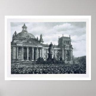 Philipp Scheidemann (1865-1939) gibt eine Adresse  Plakatdrucke