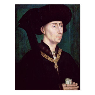 Philippe III le Bon, Duc de der Burgund, c.1445 Postkarte