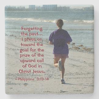 Philippians-3:13, welches die Vergangenheit, Bibel Steinuntersetzer