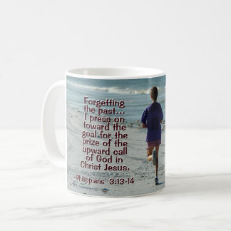 Philippians-3:14 Anruf des Gottes, Mädchen-Betrieb Kaffeetasse