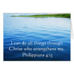 Philippians-4:13, das Bibelvers inspiriert Grußkarten
