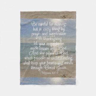 Philippians-4:13 Friedensbibel-Vers-Strand Fleecedecke