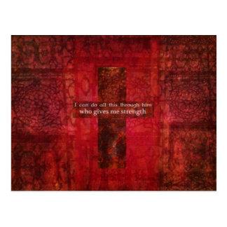 Philippians-4:13 inspirierend Schrift Postkarten