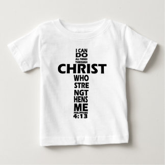 PHILIPPIANS-4:13 - KREUZ - ICH KANN ALLE SACHEN BABY T-SHIRT