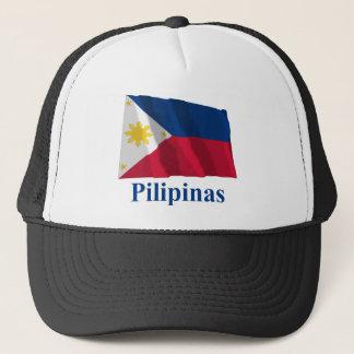 Philippinen, die Flagge mit Namen auf Filipino Truckerkappe