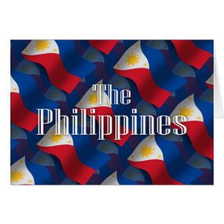 Philippinen, die Flagge wellenartig bewegen Karte