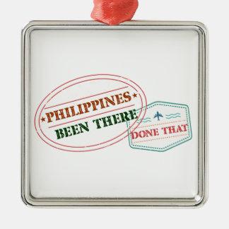 Philippinen dort getan dem quadratisches silberfarbenes ornament