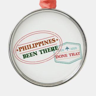 Philippinen dort getan dem rundes silberfarbenes ornament