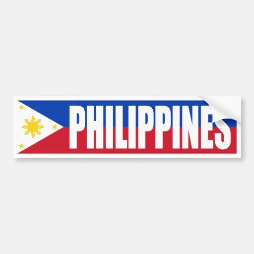 Philippinen-Flagge Autosticker
