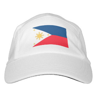 Philippinen-Flagge Headsweats Kappe