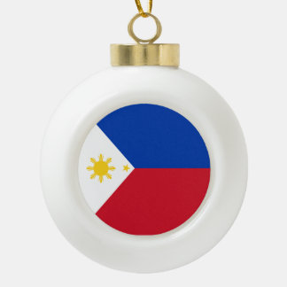 Philippinen-Flagge Keramik Kugel-Ornament