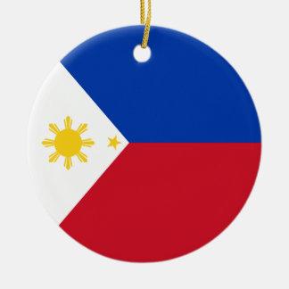Philippinen-Flagge Keramik Ornament