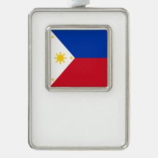 Philippinen-Flagge Rahmen-Ornament Silber