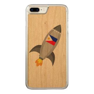 Philippinen-Flagge Rocket Carved iPhone 8 Plus/7 Plus Hülle
