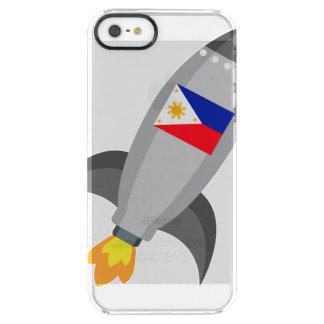 Philippinen-Flagge Rocket Durchsichtige iPhone SE/5/5s Hülle