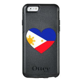 Philippinen-Flaggen-Herz OtterBox iPhone 6/6s Hülle