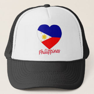 Philippinen-Flaggen-Herz Truckerkappe