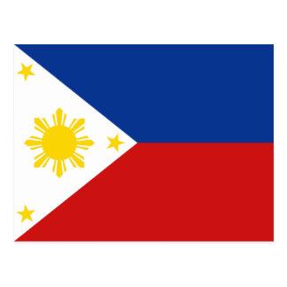 Philippinen-Flaggen-Postkarte Postkarte