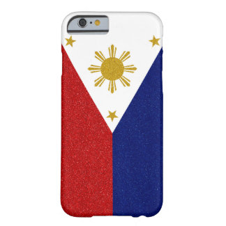 Philippinen-Glitter-Flagge Barely There iPhone 6 Hülle