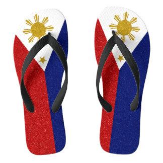 Philippinen-Glitter-Flagge, breite Bügel Badesandalen