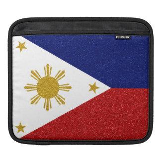 Philippinen-Glitter-Flagge iPad Sleeve