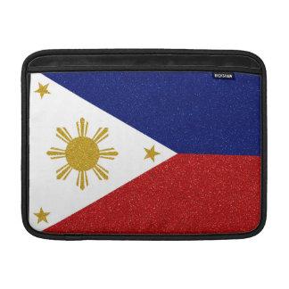 Philippinen-Glitter-Flagge MacBook Sleeve