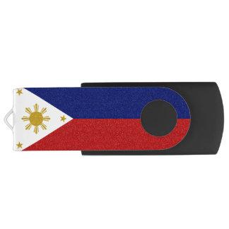 Philippinen-Glitter-Flagge USB Stick