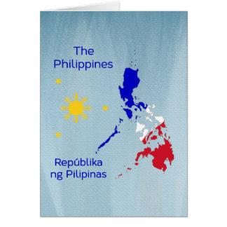 Philippinen-Karten-Illustrations-Gruß-Karte Karte