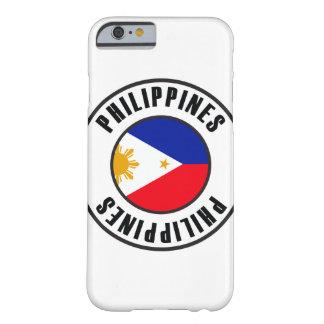 Philippinen kennzeichnen einfache Dunkelheit Barely There iPhone 6 Hülle