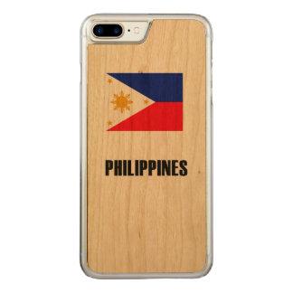 Philippinen kennzeichnen einfache Dunkelheit Carved iPhone 8 Plus/7 Plus Hülle